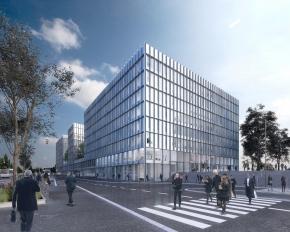 Le futur immeuble de bureaux du Verger