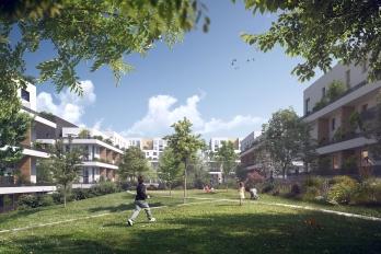 Perspective du futur quartier des Marjoberts